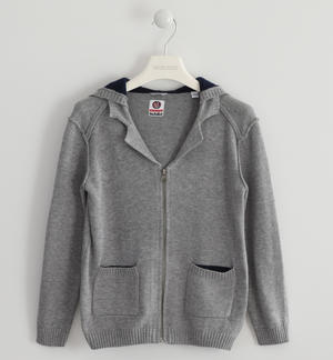Full zip sweatshirt in tricot GREY