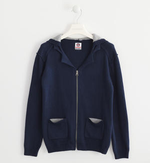 Full zip sweatshirt in tricot BLUE