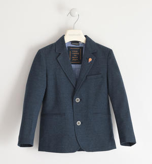 Classic jacket with brooch for boy