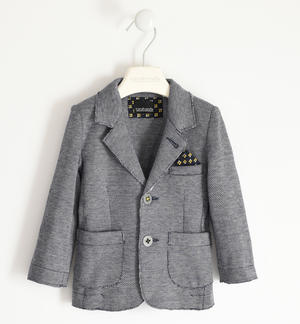 Knitted jacket with pochette for boy
