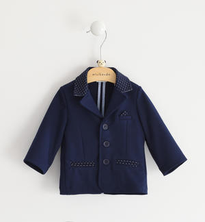 Milan stitch baby boy jacket BLUE