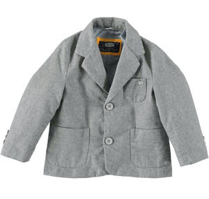 Jacket made in a refined and warm salt and pepper effect fabric.  GREY