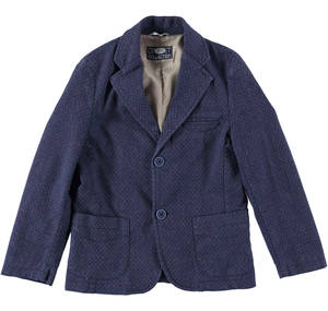 A jacket in a sophisticated checked-effect stretch fabric   BLUE