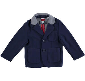 Special stretch striped knit jacket for boys BLUE