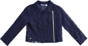 Embroidered lace jacket BLUE
