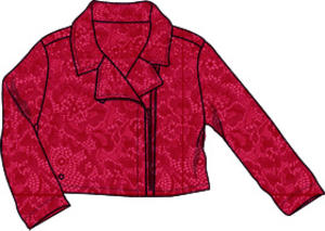Embroidered lace jacket RED
