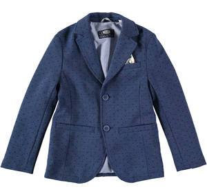 Blazer-style jacket with dot pattern BLUE