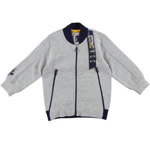 Bomber style fleece sweater  GREY