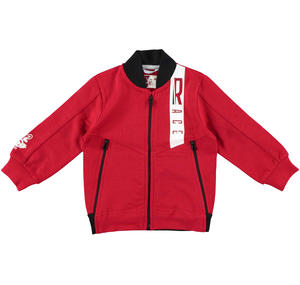 Bomber style fleece sweater  RED