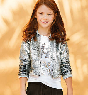 Bomber jacket with reversible sequins GREY