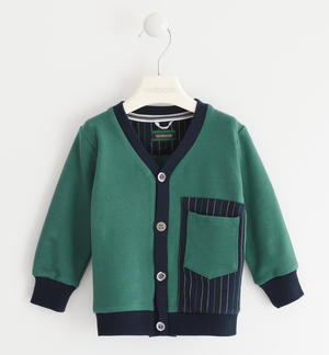 Sarabanda fleece jacket with pocket GREEN