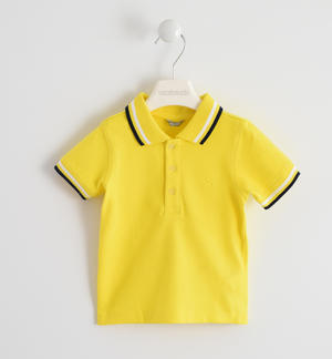 SHORT SLEEVED POLO YELLOW