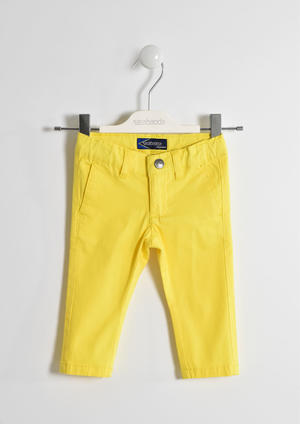 Versatile cotton twill trousers YELLOW