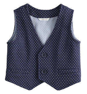 100% cotton baby vest elegant all over pattern