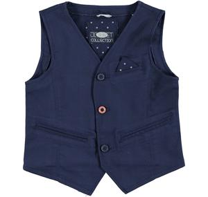 Waistcoat with welt pockets and side pocket with a handkerchief BLUE