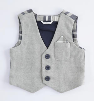 Check pattern vest GREY