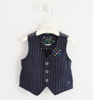 Vest with pinstriped effect BLUE
