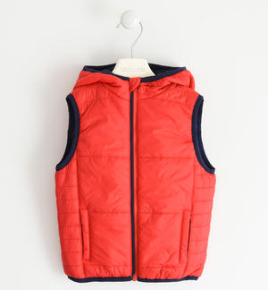 Padded nylon vest RED