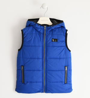 Nylon quilted vest padded with soft wadding BLUE