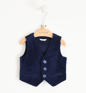 Newborn boy vest in smooth velvet