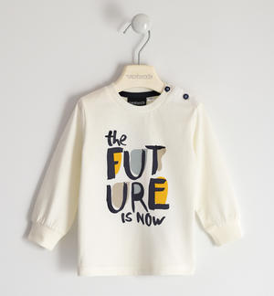 "Girocollo 100% cotone biologico ""The future is now"" capsule BIO PANNA"
