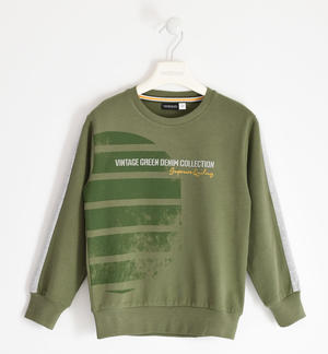 Urban style 100% cotton jersey round neck GREEN