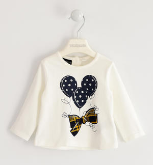 Jersey round neck with bow and balloons