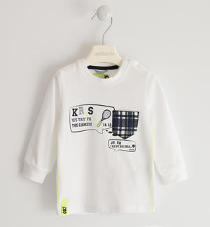 Crewneck tennis-themed jersey WHITE