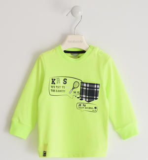 Crewneck tennis-themed jersey GREEN