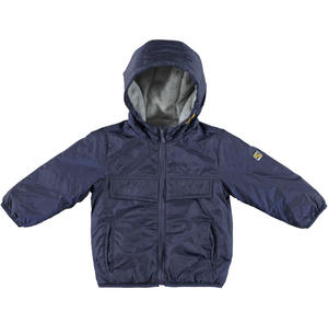 Padded autumn jacket lined in contrasting fleece  BLUE
