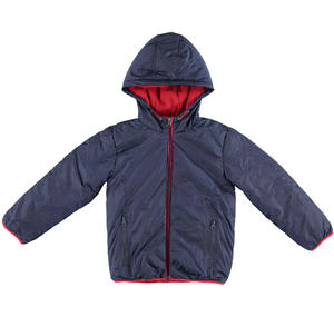 Fleece lined jacket padded with wadding BLUE