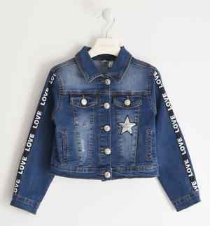 Denim jacket with sequin star