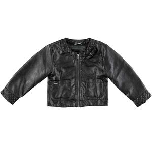 ECO-LEATHER/ECO-FUR JACKET/COAT BLACK