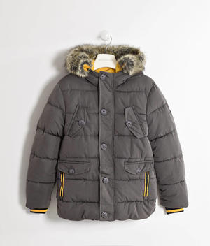 Nylon jacket lined in warm fleece   GREY