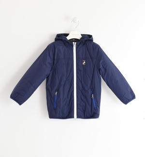 Fleece lined nylon jacket BLUE