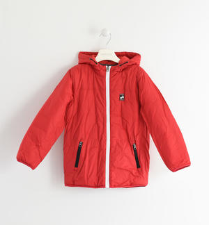 Fleece lined nylon jacket RED