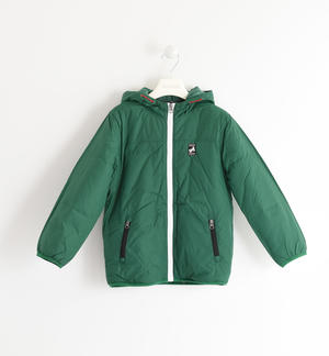 Fleece lined nylon jacket GREEN