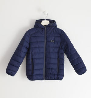 Nylon padded jacket with wadding BLUE