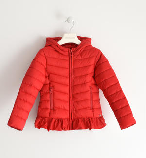100 gram nylon jacket with hood RED