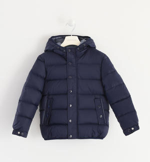 Goose down jacket with horizontal quilt BLUE