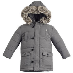 Winter cotton-padded down effect jacket  GREY