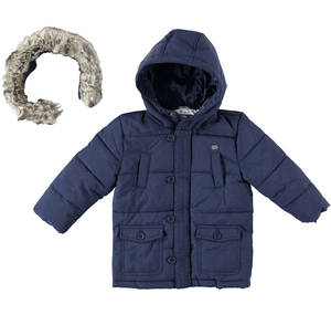 Winter cotton-padded down effect jacket  BLUE