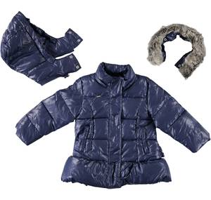 Hooded jacket with cotton padding  BLUE