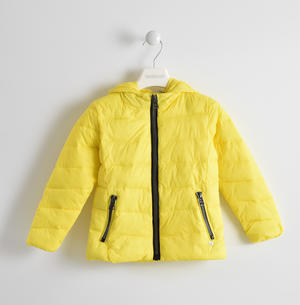 Down jacket with hood YELLOW