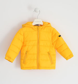 100-gram model jacket with contrasting zip YELLOW