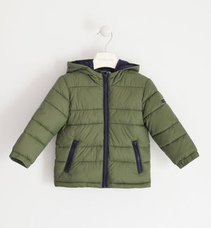 100-gram model jacket with contrasting zip GREEN