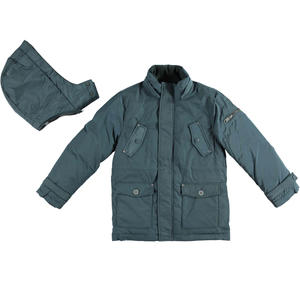 Padded parka jacket with wadding   GREY