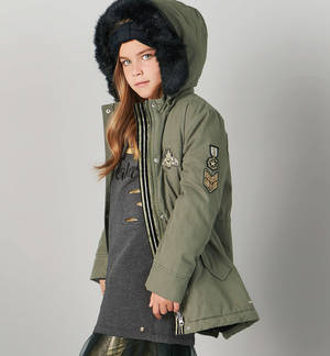 Cotton padded parka   GREEN