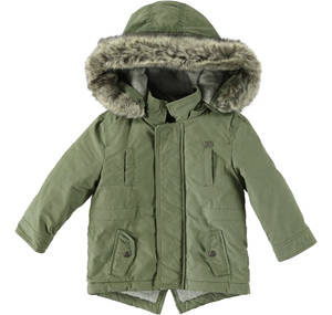 Winter parka coat with hood GREEN