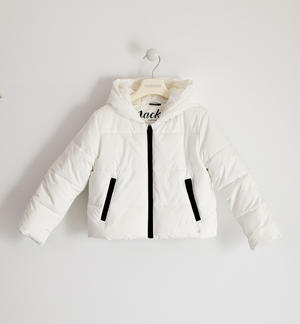 Technical fabric jacket for girl WHITE